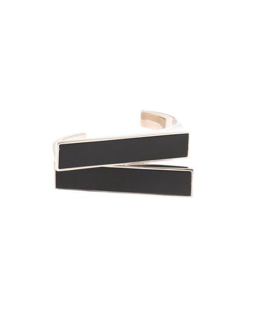 Saint Laurent - Metallic Rectangular Cuff Bracelet - Lyst
