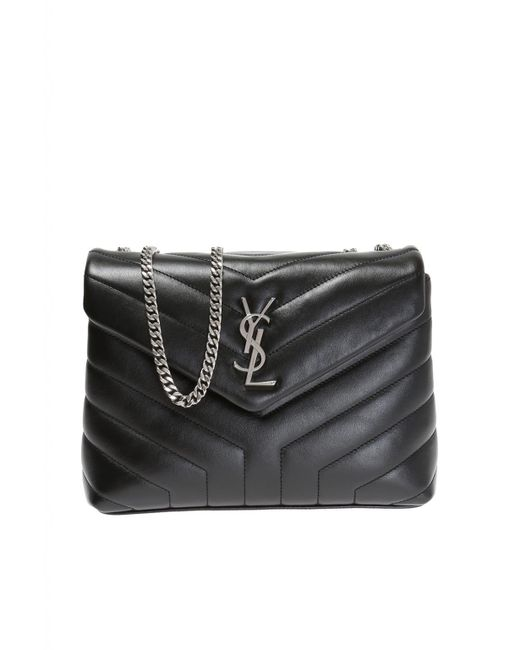 Saint Laurent - Black  loulou  Shoulder Bag - Lyst ... 3d4878fa6fa18