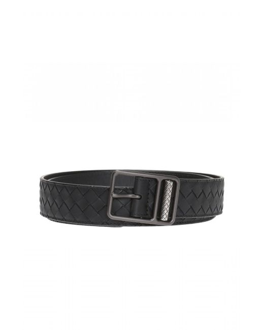 Bottega Veneta - Black 'intrecciato' Belt for Men - Lyst