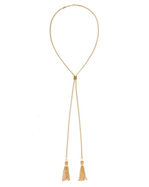 Chloé - Metallic Necklace With Metal Tassels - Lyst