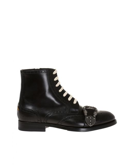 dcd898cd1 Gucci - Black 'queercore' Ankle Boots for Men - Lyst ...