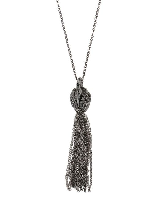 Lanvin - Metallic Necklace With Charm - Lyst