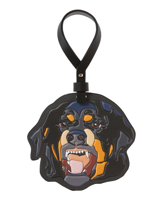 Givenchy - Black Rottweiler Head Key Ring - Lyst