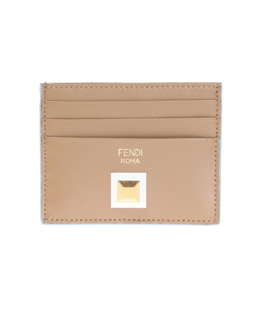 Fendi - Brown Card Case With Decorative Element - Lyst