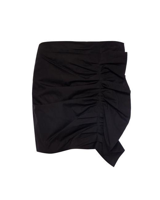 a68de11218 Victoria, Victoria Beckham - Black Skirt With Decorative Gathers - Lyst ...