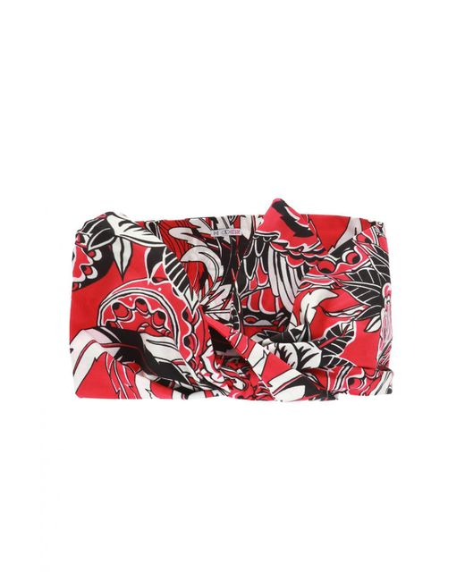 RED Valentino - Red Patterned Headband - Lyst
