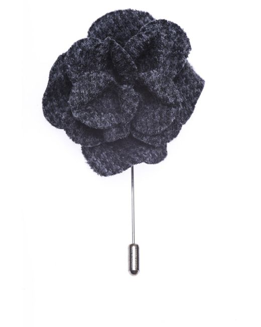 Lanvin - Gray Flower-shaped Pin - Lyst