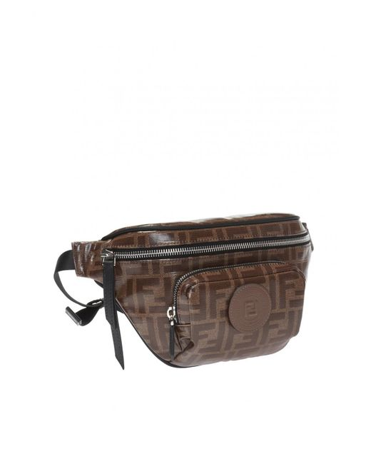 f1287c9450d5 ... Fendi - Brown Logo-printed Belt Bag for Men - Lyst ...