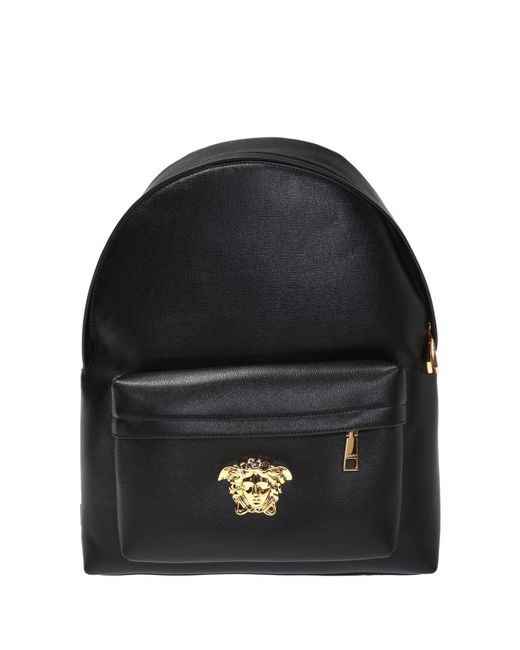 ef04bd830745 Versace - Black Medusa Head Backpack for Men - Lyst ...