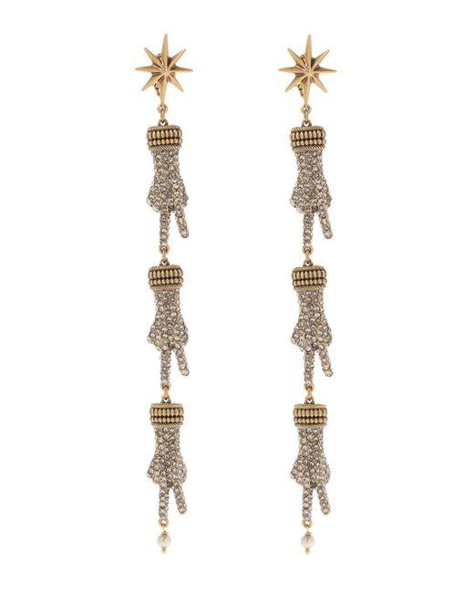 Gucci - Metallic Hand Motif Clip-on Earrings - Lyst