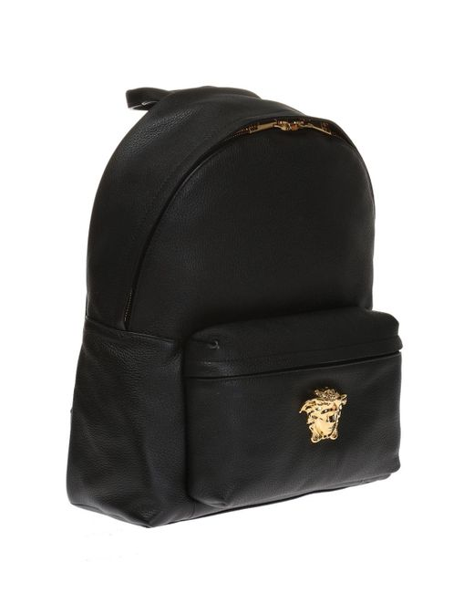 9e8b390d2f9 Versace Men's Leather Medusa Backpack in Black for Men - Save 12% - Lyst