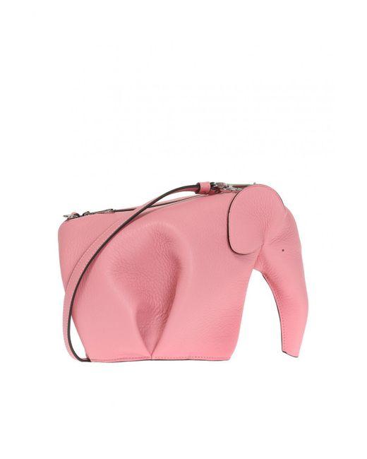 Loewe - Pink Elephant Shoulder Bag - Lyst