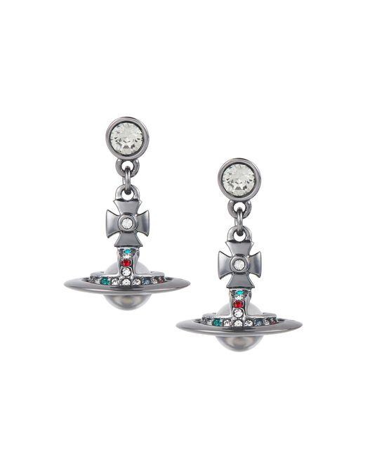 Vivienne Westwood | Metallic Gunmetal New Petite Orb Earrings | Lyst