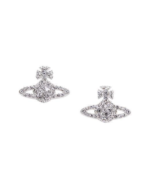 Vivienne Westwood   Metallic Grace Bas Relief Stud Earrings Crystal   Lyst