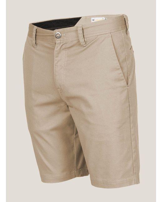 Volcom - Natural Frickin Mod Stretch Shorts for Men - Lyst