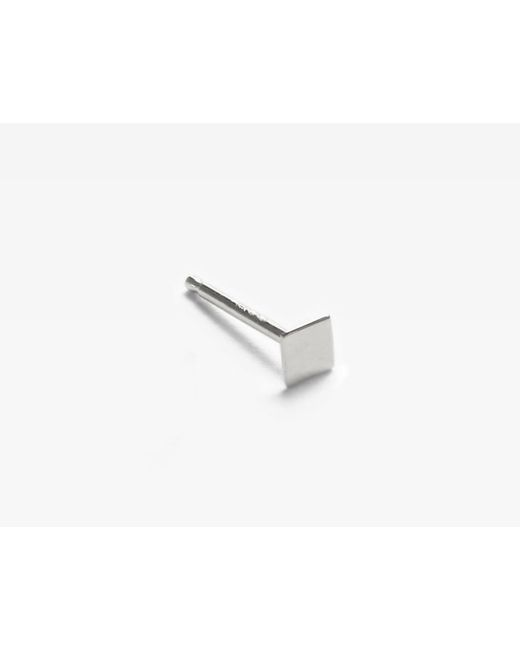Vrai & Oro | Metallic Single Square Stud Earring | Lyst