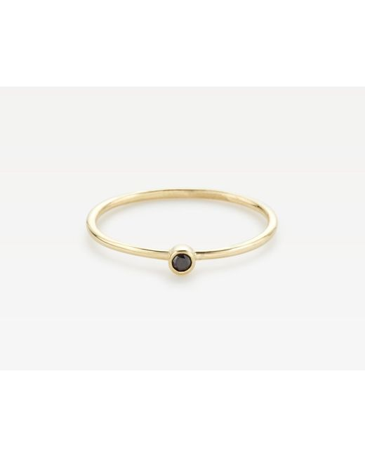 Vrai & Oro | Metallic Round Black Diamond Stacker | Lyst