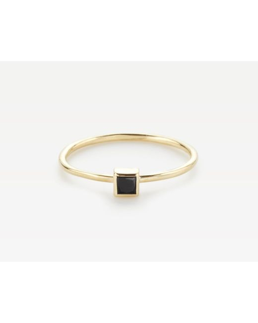Vrai & Oro | Metallic Square Black Diamond Stacker | Lyst