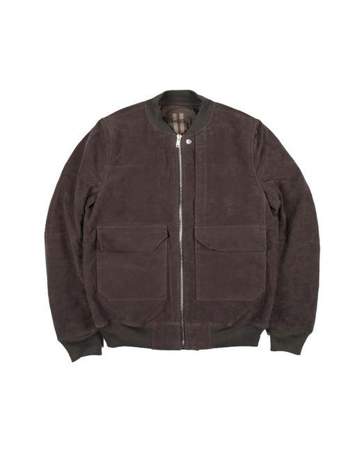 Rick Owens Drkshdw - Gray Cop Flight Jacket for Men - Lyst