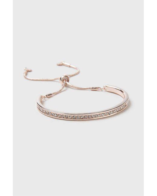 Wallis   Metallic Rose Gold Toggle Bracelet   Lyst