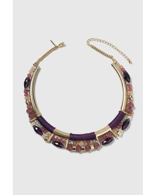 Wallis | Purple Facet Wrap Collar Necklace | Lyst