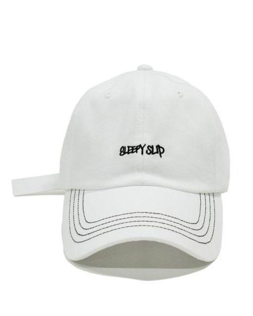 e30dd3869a0 Lyst - SLEEPYSLIP  unisex  Stitch White Ball Cap in White