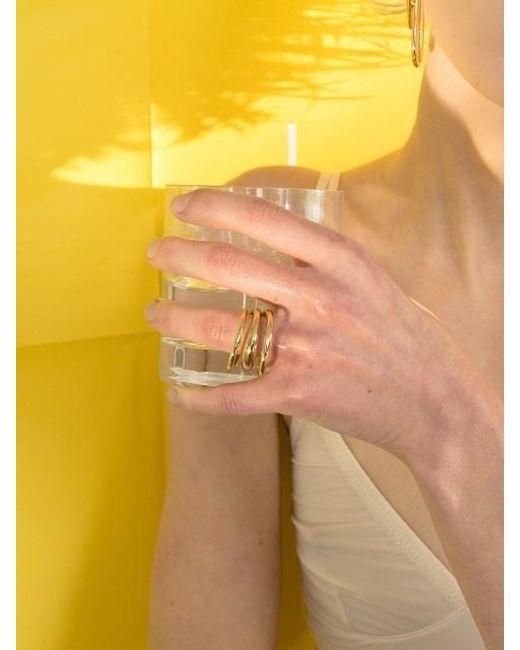 VIOLLINA - Metallic Whirlpool Ring Gold - Lyst