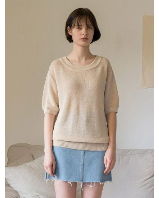 AMONG - Natural A Loose Knitwear - Lyst