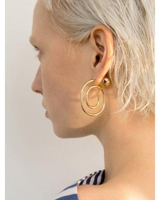 VIOLLINA - Metallic Hanguel Alphabet Single Earring-5 Gold - Lyst