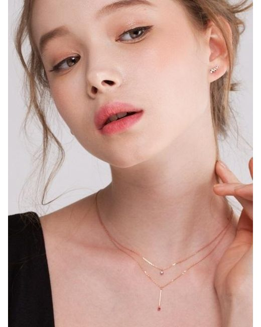G. TATIANA - Red 14k Y Line Point Stic Necklace - Lyst