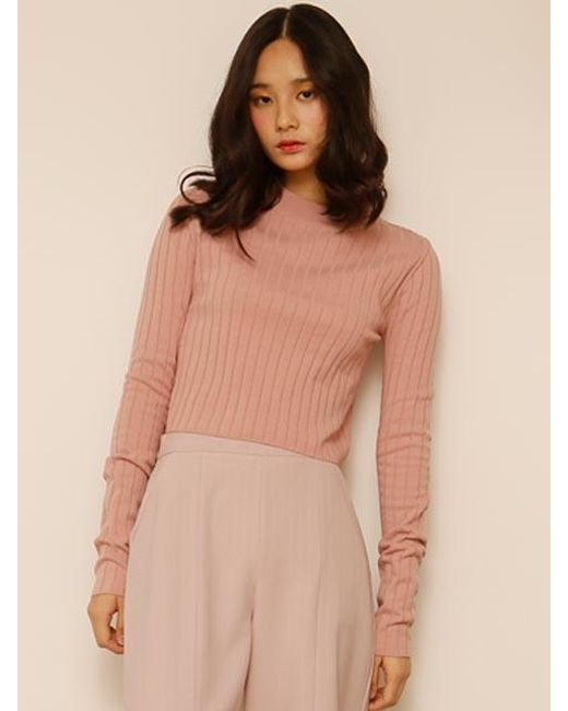 AMONG - Green A Basic Crop Knit - Lyst