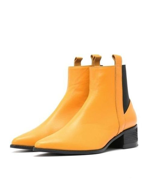 W Concept - Multicolor Mrc025 Side Loop Chelsea Boots Yellow - Lyst