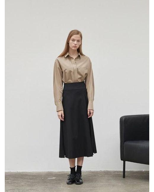 NILBY P - Black Unbalanced Full Skirt - Lyst