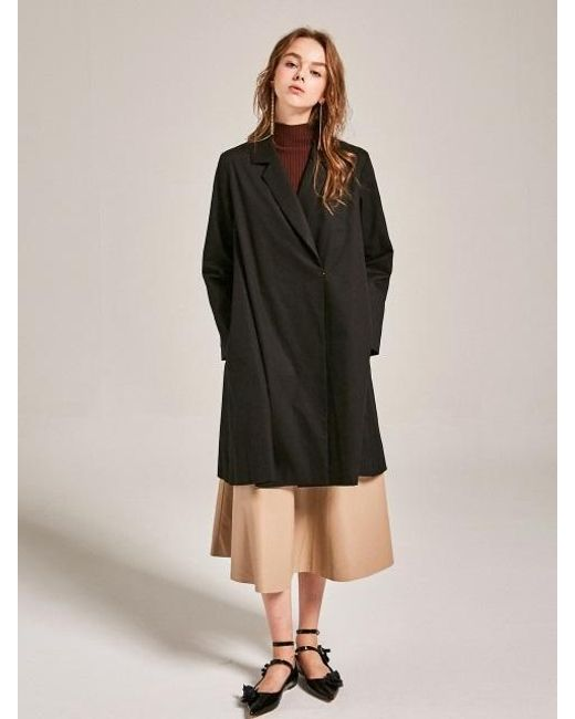 YAN13 - Bran One Button Coat_black - Lyst