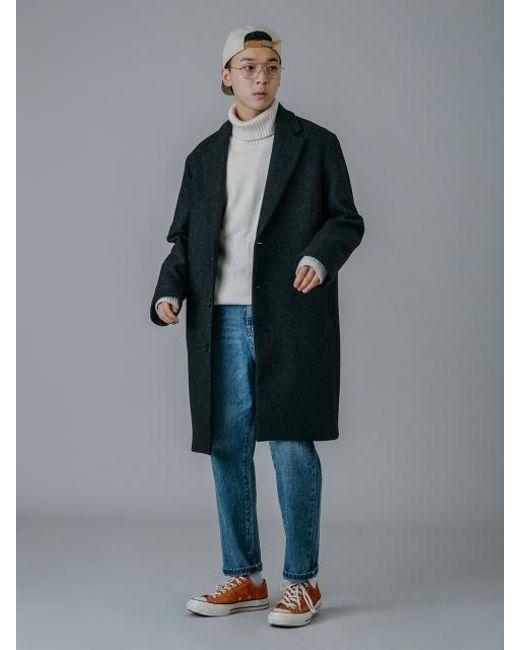 UNIIS DESIGN - Uns Loose Fit Quilting Coat_gray for Men - Lyst