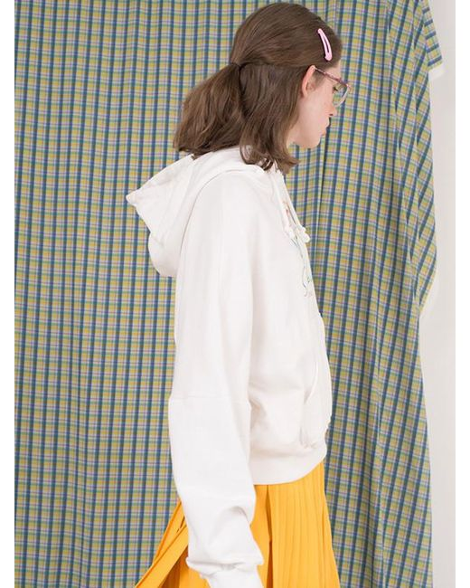 ANOTHER A - Suburbia Flower Hoodie White Purple Yellow - Lyst