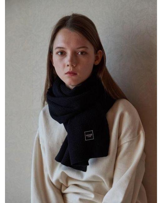 W Concept | Black Lauret Wool Muffler 9color | Lyst