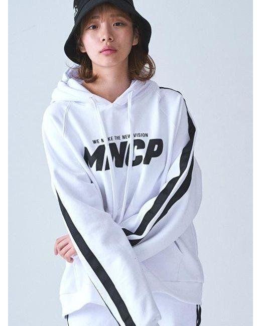 W Concept - Multicolor [unisex]_mncp Double Line Hoodie White - Lyst