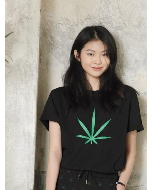 Chubasco - M T Shirt Big Weed Black M17102[unisex] - Lyst