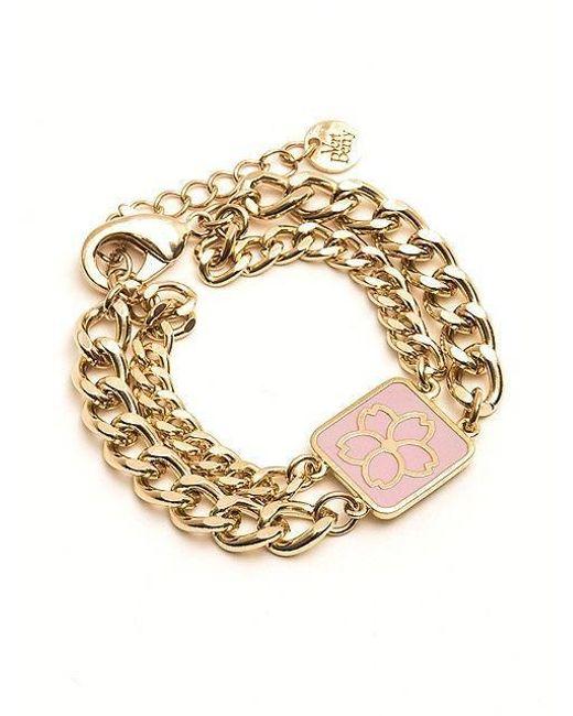 VERT BERRY | Metallic Sakura Blossom Chain Bracelet_pink | Lyst