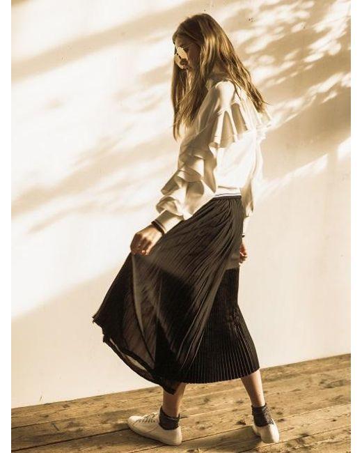OUAHSOMMET - Black Multi-length Pleats Skirt_bk - Lyst