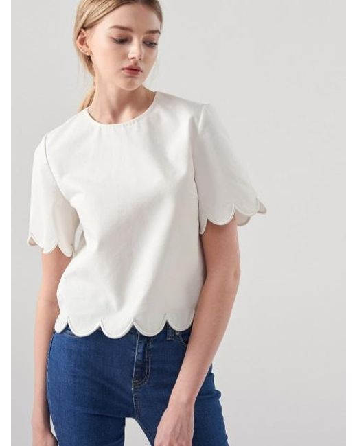Blanc & Eclare - White Demeter Blouse Ss3521wh - Lyst