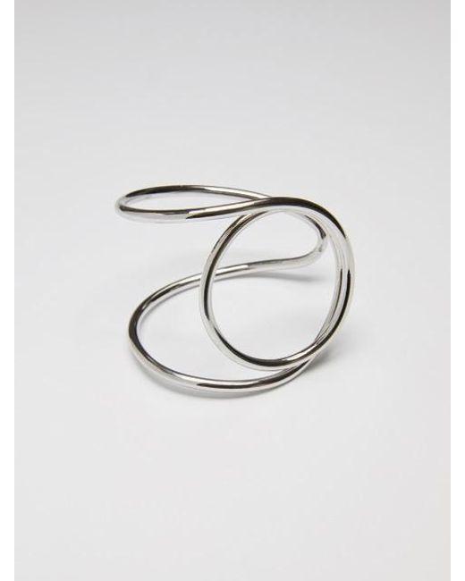 VIOLLINA - Metallic Swirling Wire Cuff_silver - Lyst