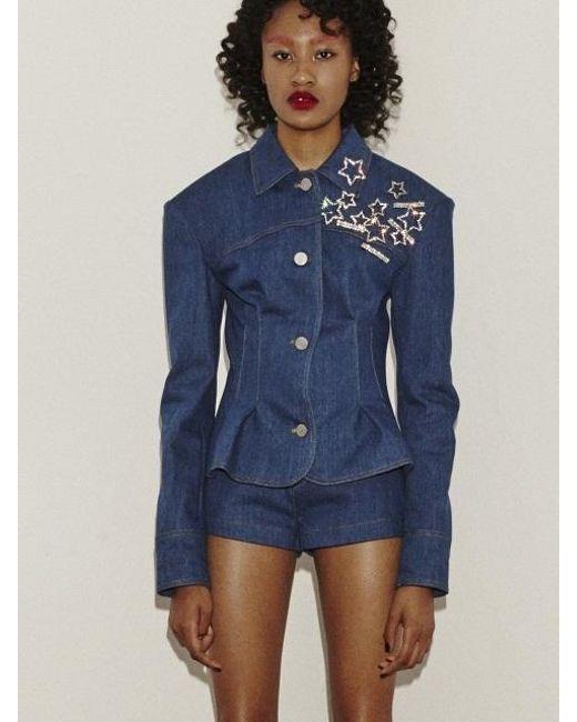 Fleamadonna - Blue Denim Stitch Jacket - Lyst