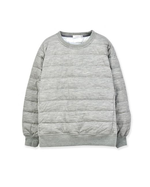 Nanamica - Gray Down Crew Neck Sweater for Men - Lyst