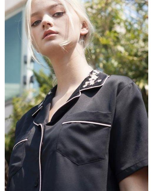 TARGETTO - Sakura Pajama Shirts Black Pink - Lyst