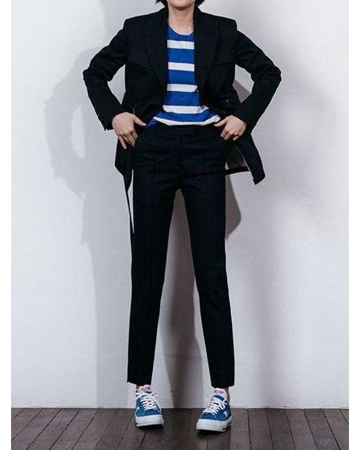 W Concept - Black Flap Pocket Belted Jacket for Men - Lyst