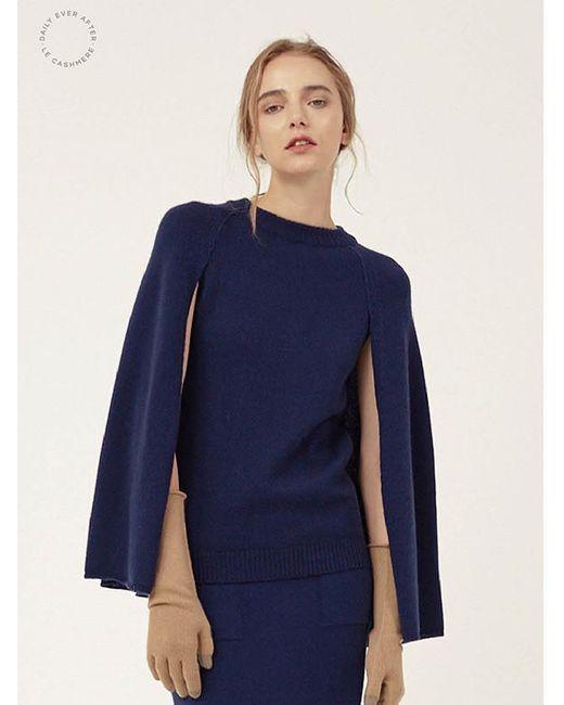 LE CASHMERE | Blue Cape R Neck Pullover | Lyst