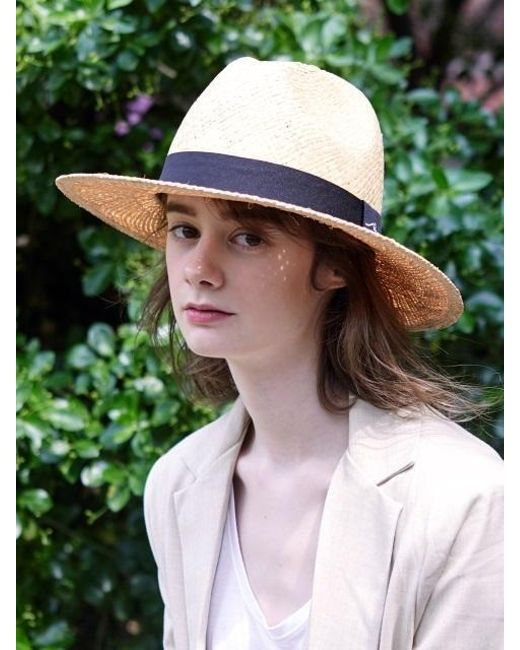 da5a3d9150c SLEEPYSLIP - Natural  unisex  Sleeping Beige Panama Hat - Lyst ...