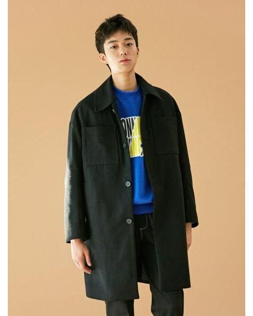 BONNIE&BLANCHE - [unisex] Pocket Single Coat Black for Men - Lyst